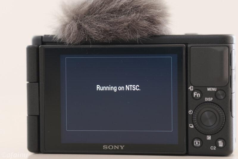 """Running on NTSC""の警告"