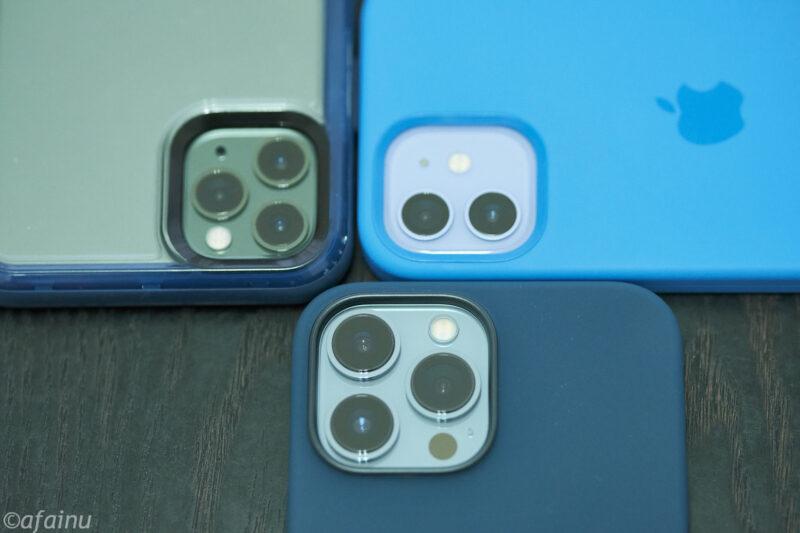 3世代のカメラサイズ比較